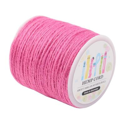 cordon chanvre Ø 2 mm rose