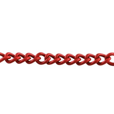 chaine maille 3 x 2 mm rouge