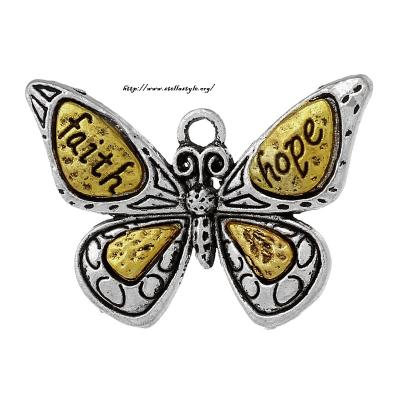 pendentif papillon faith hope